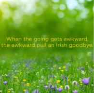 "I believe the technical term is ""Irish EXIT."" Click to see more proverbs for introverts on Buzzfeed."